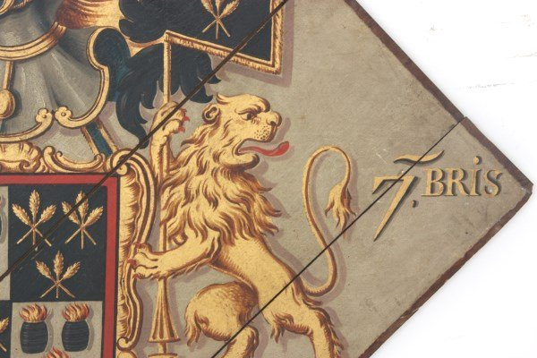 Hand Painted Funerary Hatchment - 6