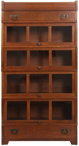 Mission Oak Stacking Sectional Bookcase