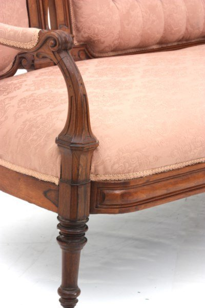 Victorian Carved Rosewood Triple Back Sofa - 10
