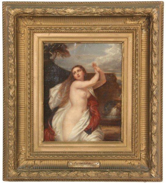 Oil on Canvas Painting of Susanna