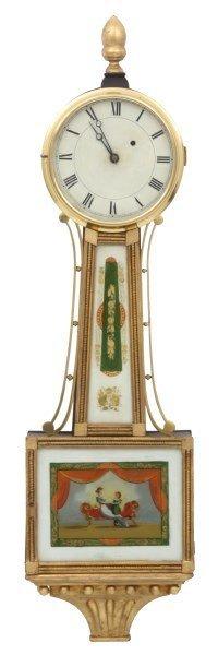 Attr: Curtis & Dunning Mahogany Banjo Clock