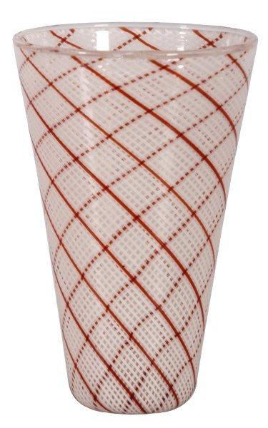 Dino Martens Filigrana Glass Striped Vase