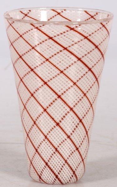 Dino Martens Filigrana Glass Striped Vase - 2