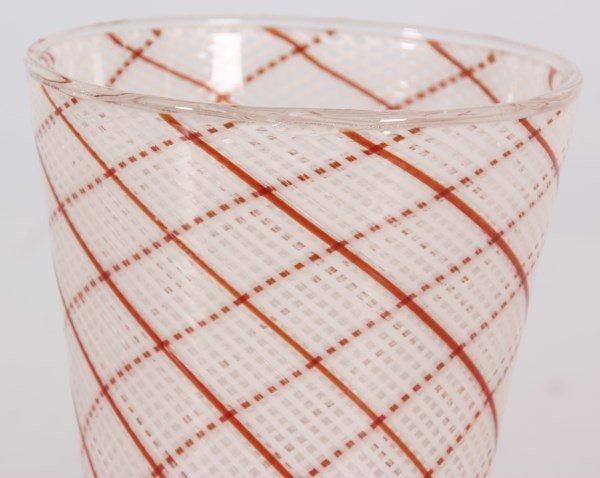 Dino Martens Filigrana Glass Striped Vase - 3