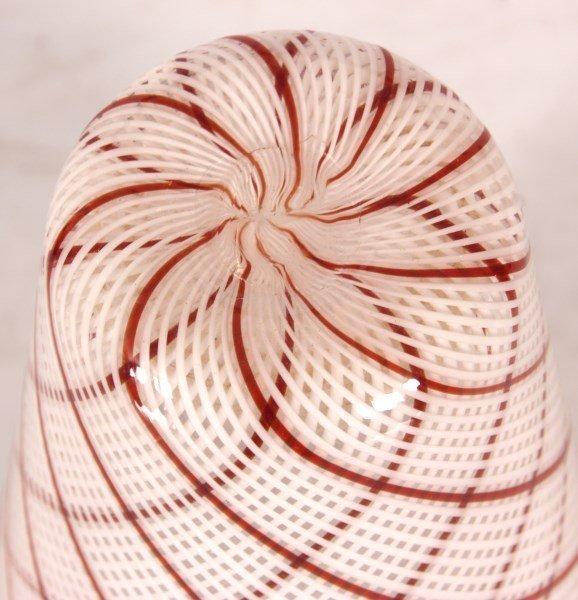 Dino Martens Filigrana Glass Striped Vase - 5