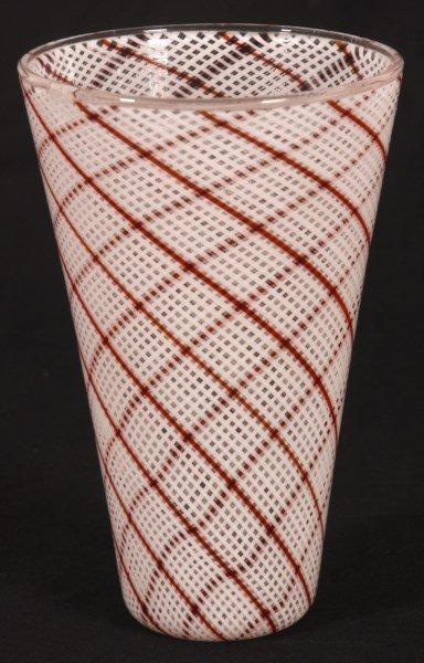 Dino Martens Filigrana Glass Striped Vase - 8
