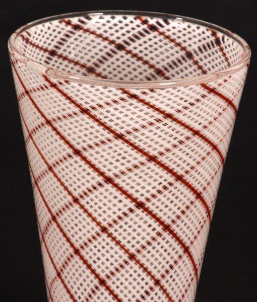 Dino Martens Filigrana Glass Striped Vase - 9
