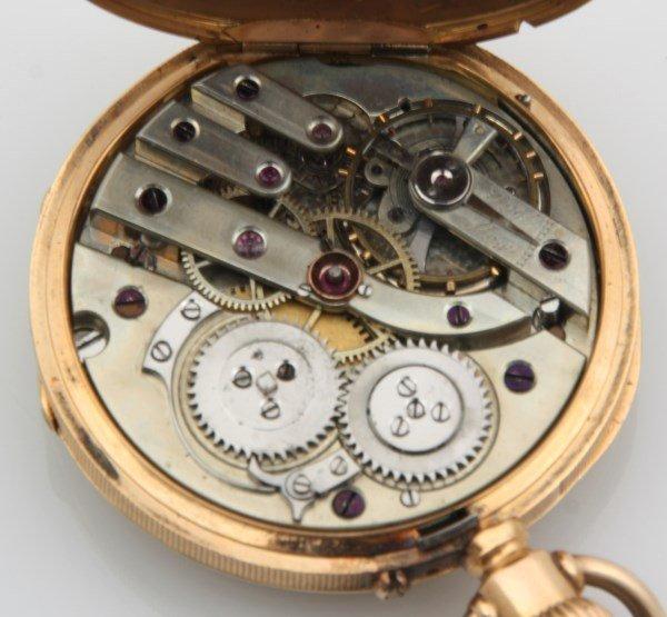 18K Breitling Laederich Open Face Pocket Watch - 3