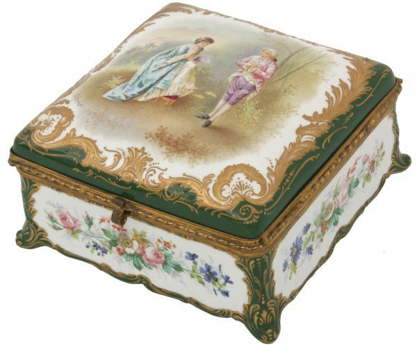 Sevres Decorated Porcelain Box