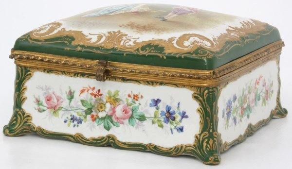 Sevres Decorated Porcelain Box - 3
