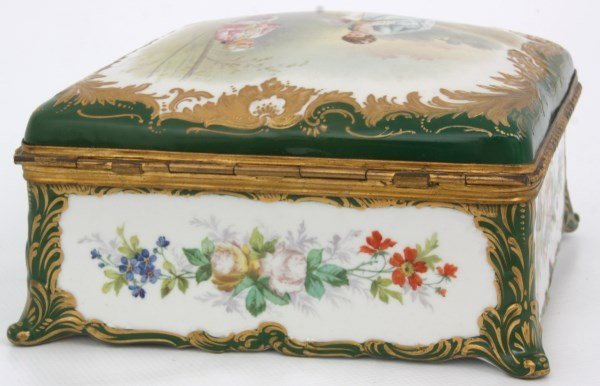 Sevres Decorated Porcelain Box - 5