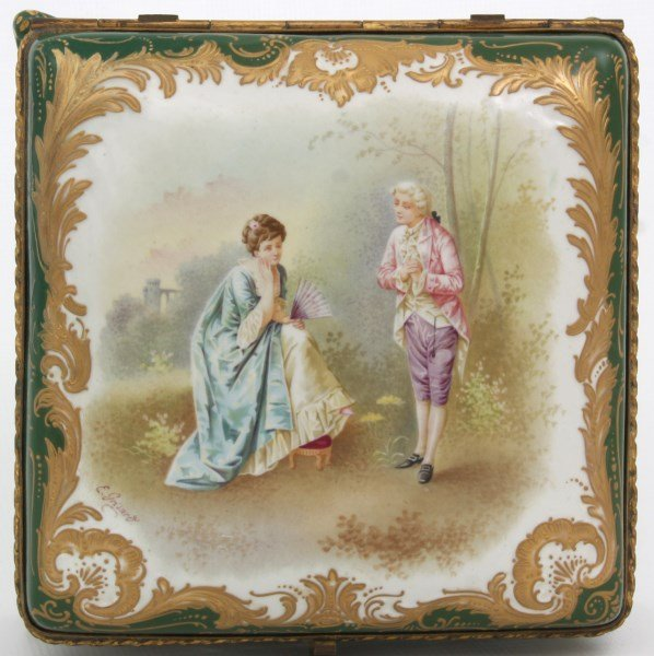 Sevres Decorated Porcelain Box - 6