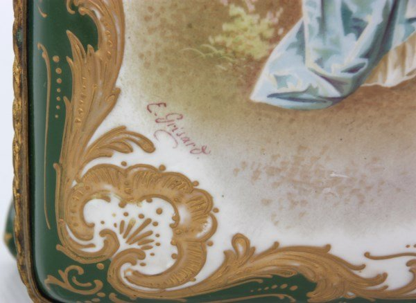 Sevres Decorated Porcelain Box - 8