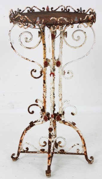 Victorian Wrought Iron Plant Stand - 2