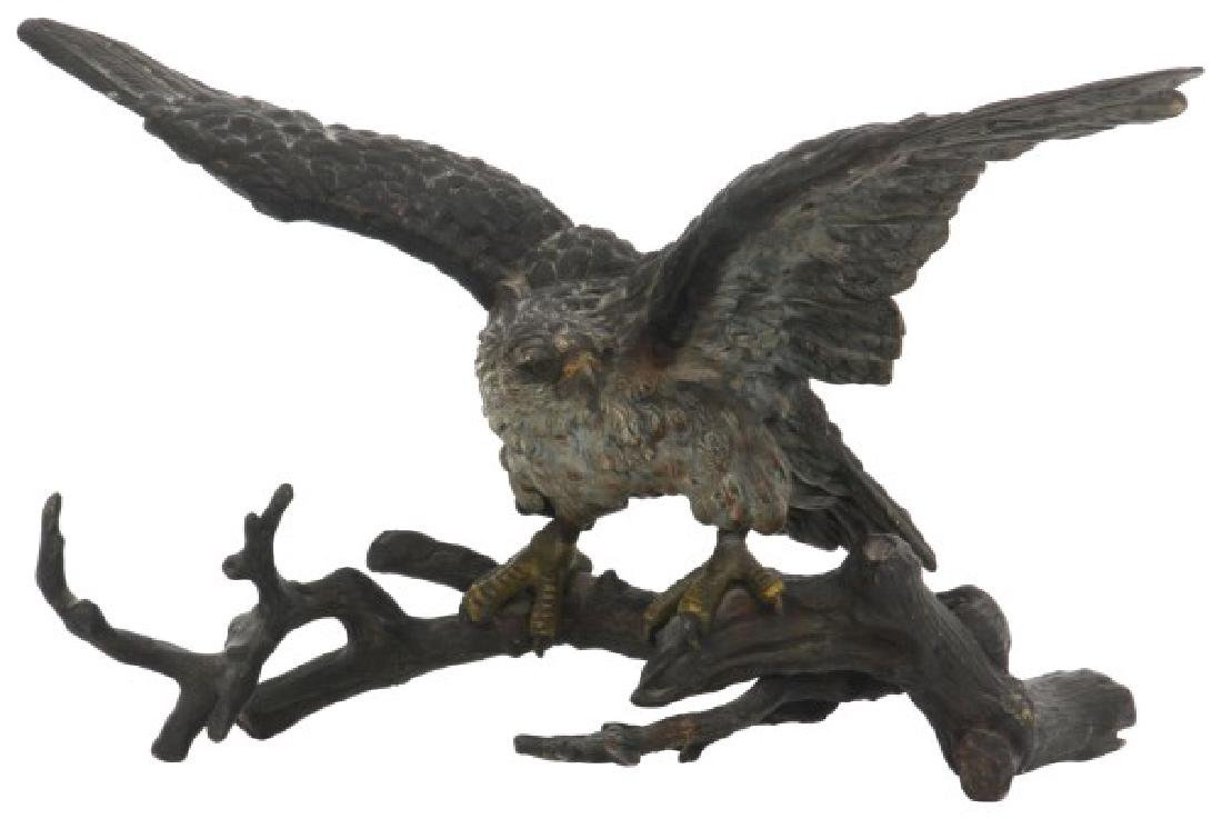 Austrian Cold Painted Bronze Eagle