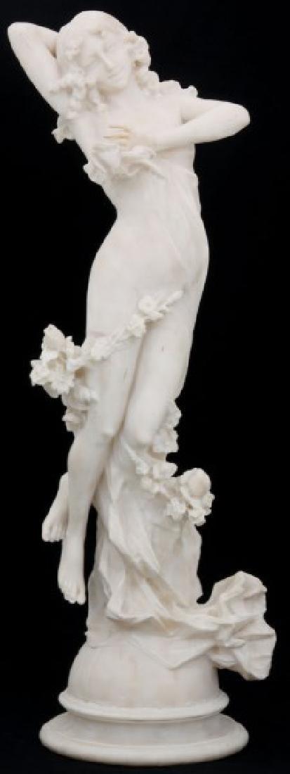 Signed C. Lapini Nude Alabaster Sculpture