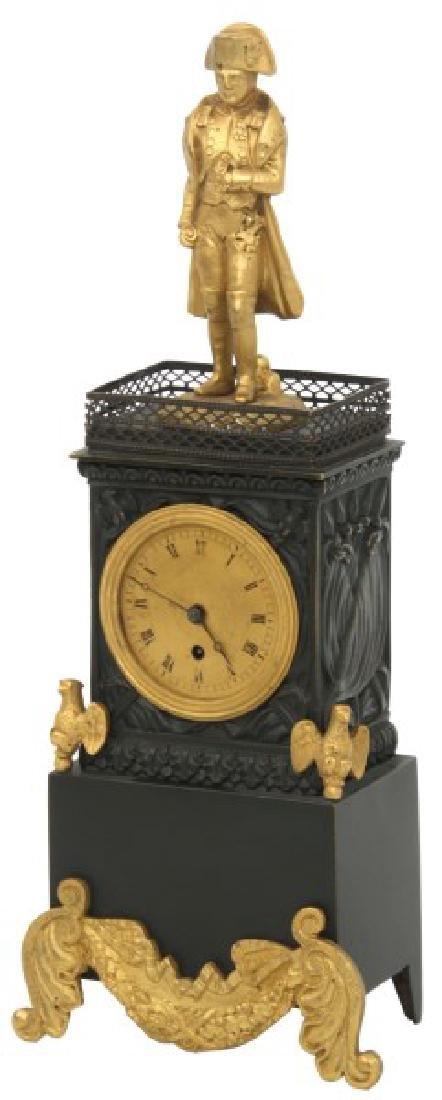 Bronze Miniature Napoleon Desk Clock