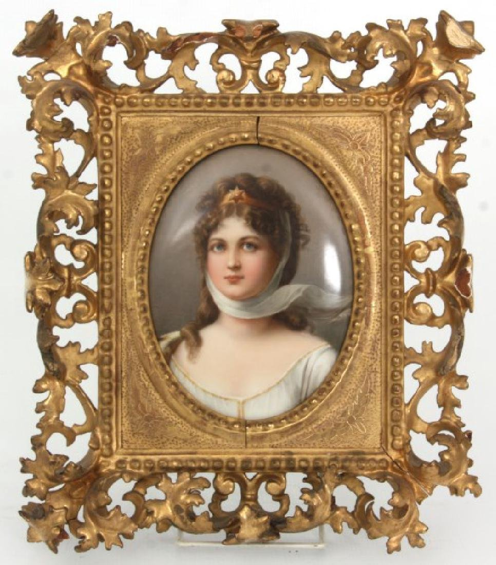 KPM Porcelain Portrait Plaque - Queen Louisa