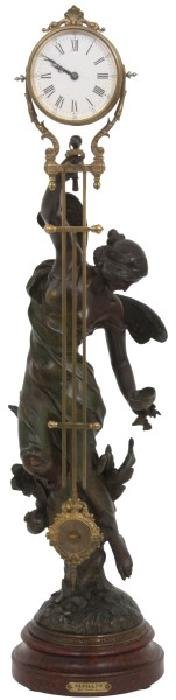 French Figural Mystery Swinger Clock