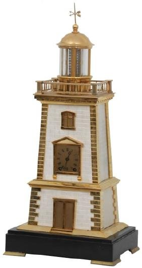 Guilmet Lighthouse Torsion Pendulum Clock