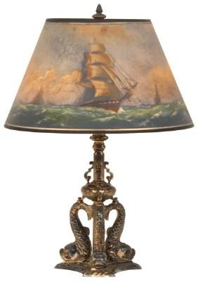 16 in. Pairpoint Reverse Painted Table Lamp