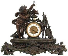 French Figural Conical Pendulum Mantle Clock
