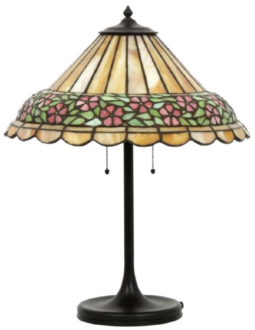 18 in. Unique Leaded Glass Table Lamp