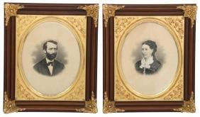 Pr. Exceptional Walnut Victorian Frames
