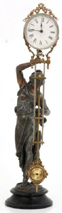 Ansonia Fisher Figural Mystery Swinger Clock