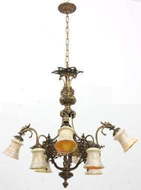 Bronze 8 Light Chandelier