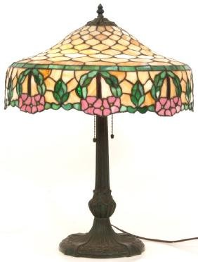 Chicago Mosaic Leaded Glass Lamp