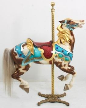 M.C. Illions Jeweled Outside Jumper Carousel Horse