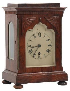 Rosewood Single Fusee Bracket Clock