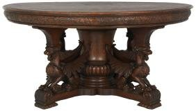 60 in. RJ Horner Winged Griffin Dining Table