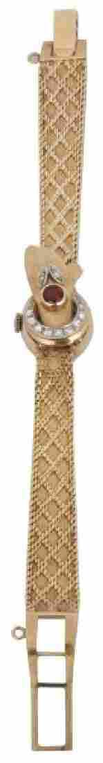 Ladies 14K Gold & Diamond Wrist Watch