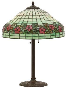 16 in. Unique Leaded Glass Table Lamp