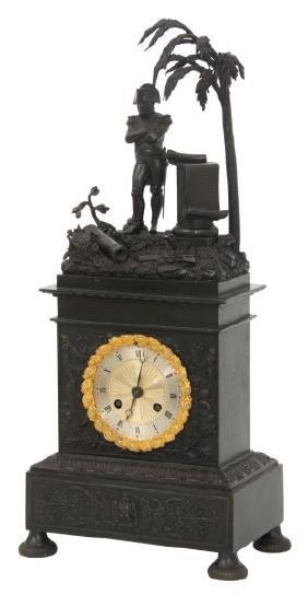 Bronze Silk Thread Napoleon Mantle Clock