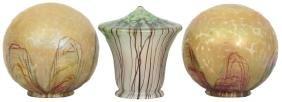 3 Attr: Loetz Art Glass Shades