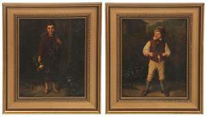 Pr. Late 19th C. O/C Portraits