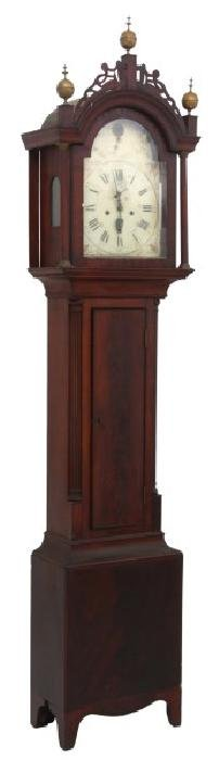 American Mahogany Long Case Clock