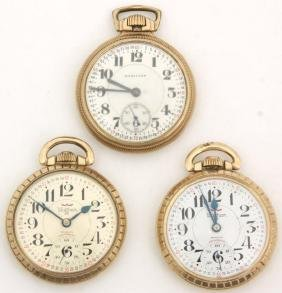 3 Montgomery Dial Pocket Watches