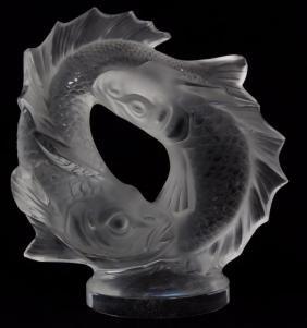 Lalique France Crystal Deux Poissons