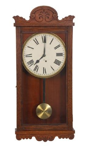 Oak Ansonia Hanging Wall Regulator