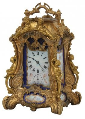 Rococo Figural Hour Repeater Carriage Clock