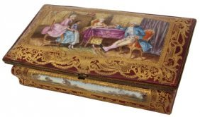 Sevres Style Decorated Porcelain Box