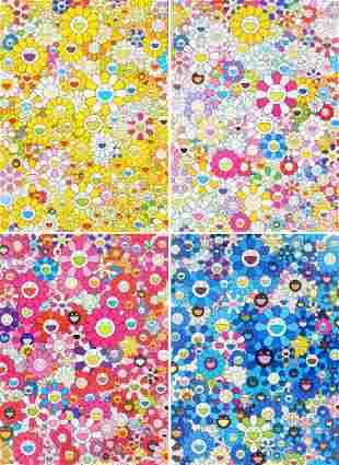 Takashi Murakami HOMAGE Lithographs, Set of 4