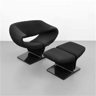 Pierre Paulin RIBBON Chair & Ottoman