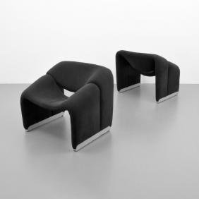 Pair of Pierre Paulin GROOVY F598 Lounge Chairs