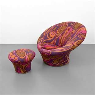 Pierre Paulin MUSHROOM Chair & Ottoman