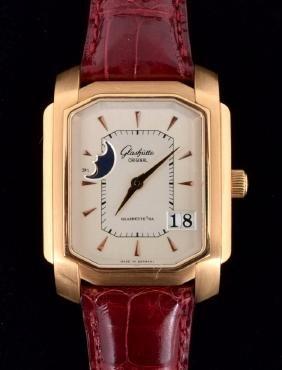 18K Gold Glashutte Men's Vintage Estate Wrist Watch